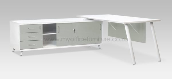 Arctic Range Executive Desk from My Office Furniture